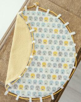tapis-piscine-chouettes-jaunes